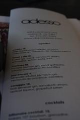 adesso menu