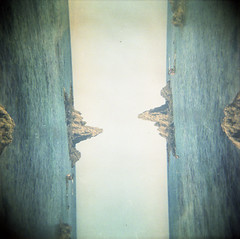 [caring is creepy] ([noone]) Tags: españa 120 6x6 beach mar holga lomo xpro crossprocessed procesocruzado spain exposure mare playa double andalucia medium format theshins medio spiaggia cabodegata spagna 2010 doble esposizione formato cfn esposicion formado caringiscreepy doppia lassirenas processoinverso