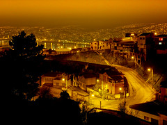 Playa Ancha (Isaas Campbell) Tags: chile sea streets night luces noche streetlights hills cerro valparaso called upla faroles playaancha valparaisobay bahadevalparaso