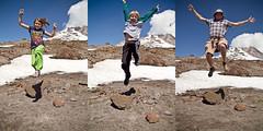 jumping from Mt. Hood. (Mr. Biggs) Tags: travel vacation oregon elliot sequence biggs hoodriver mrbiggs