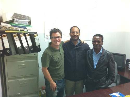 Barrett with directors in Ethiopia