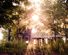Bathed in Light (corinne.schwarz) Tags: old light summer sun house abandoned nature outdoor michigan clinton beams lenawee