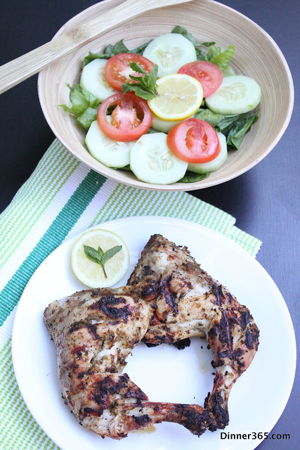 Day 240 - Grilled Pepper Chicken and Lemony Salad