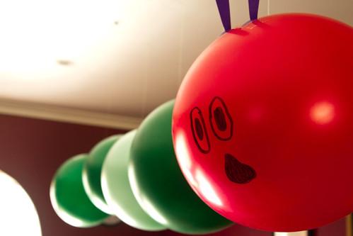 Hungry Caterpillar Balloons