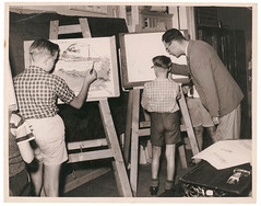 Primary school art class, n.d., by Sam Hood (State Library of New South Wales collection) Tags: statelibraryofnewsouthwales