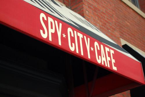 Spy Museum - Cafe Sign