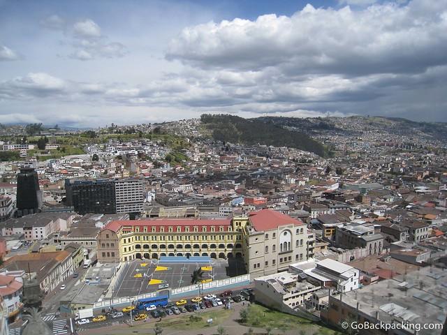 View of Quito from atop the Basilica del Voto Nacional