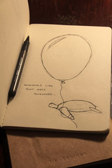 Even awkward turtle needs a back up...... (agauld) Tags: moleskine pen ink canon ball paper notebook skin random turtle drawing ballon uni awkward mole notepad moleskin 2011 skine 60d