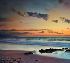 A Salsa (Diego Velo) Tags: sunset sea espaa praia beach atardecer mar spain corua playa galicia arteixo repibelo gettyimagesiberiaq3 asalsa