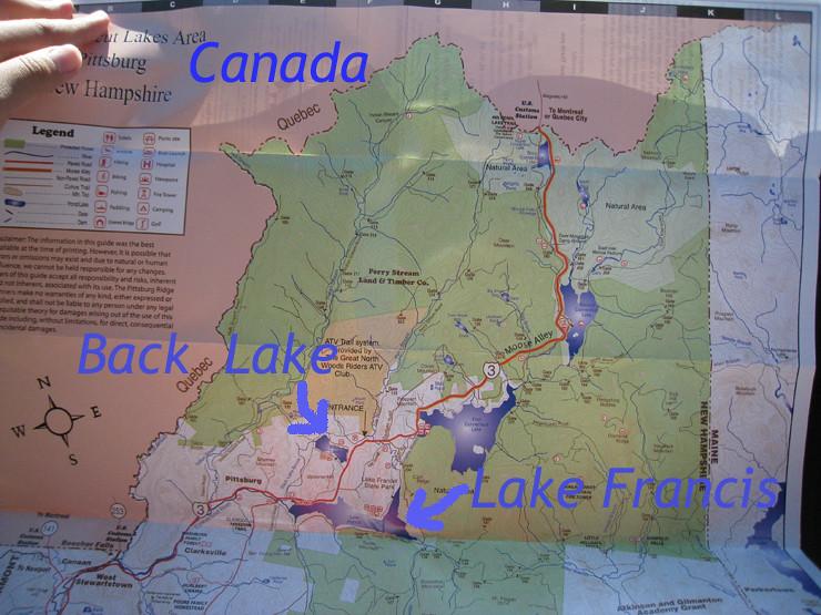 Back Lake and Lake Francis New Hampshire