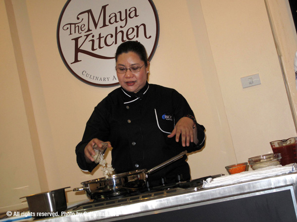 Cooking demo at The Maya Kitchen
