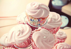 Sour cherries cupcakes (kodzuki) Tags: pink cute cooking cherry cupcakes soft girly pastel pastry sourcherry