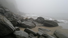 Whitsand Bay - Foggy Beach (TempusVolat) Tags: cameraphone sea mist beach mobile fog zeiss landscape bay landscapes nokia nice interesting sand rocks flickr surf phone image good 28mm picture like wave wideangle pb best mobilephone favourites getty keep favourite gw myfavourites gareth liked f28 n8 tempus keeper carlzeiss nseries whitstone nokianseries 12mp nokian8 volat wonfor mrmorodo garethwonfor tempusvolat