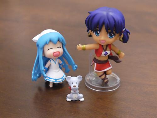 ナディアとキング(ねんどろいどぷち)とミニイカ娘
