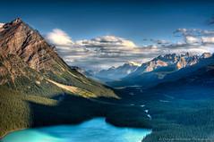 Peyto Lake - Alberta Canada (nailbender) Tags: lake canada mountains clouds sunrise 3d soe hdr albertacanada peytolake canadianrockies nailbender