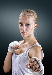 Ready to rumble! (Geir Akselsen) Tags: girl fight martialarts trouble karate angry workout