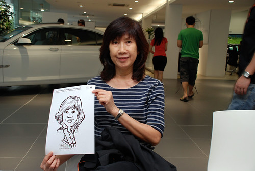 Caricature live sketching for Performance Premium Selection first year anniversary - day 2 - 27