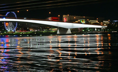 Victoria Bridge, Brisbane, Australia (lukeryan) Tags: longexposure bridge water architecture night river australia brisbane mygearandme stunningphotogpin