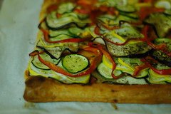 ratatouille tart (#237) (the_musical) Tags: summer food dinner veggies ratatouille porject365