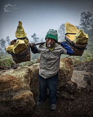Ijen Miner - East Java, Indonesia (Jesse Estes) Tags: travel man indonesia miner sulfer eastjava kawahijen