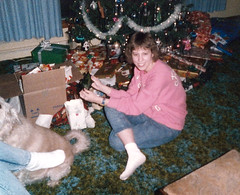 Me 1987 (grilled cheese) Tags: christmas me 1987 livingroom 1980s forenza acidwashedjeans