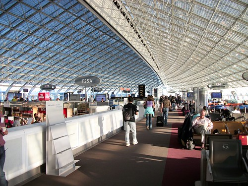 Photo of the terminal at the airport in France