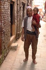 Hajurbuwa & Natini (Sunanda Chandry Koning) Tags: travel nepal color digital canon photography eos photo asia 300d powershot kathmandu patan 2009 canoneos300d bhaktapur travelphotography lalitpur april2009 sx100 may2009