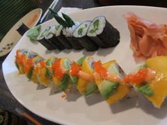 Lambeau roll and asparagus roll