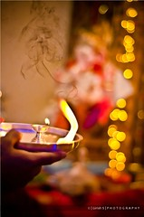 Prayers !!!! (girish_suryawanshi) Tags: photography 50mm nikon dj bokeh s explore gary arti f18 girish ganapati modak 2011 suryawanshi d7000