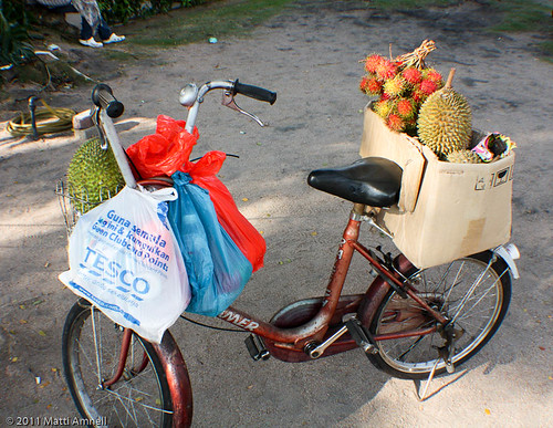 Durian season - it's everywhere. by Brin d'Acier