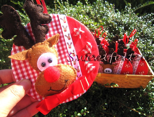♥♥♥  Rudolph the red nose reindeer!!! by sweetfelt \ ideias em feltro