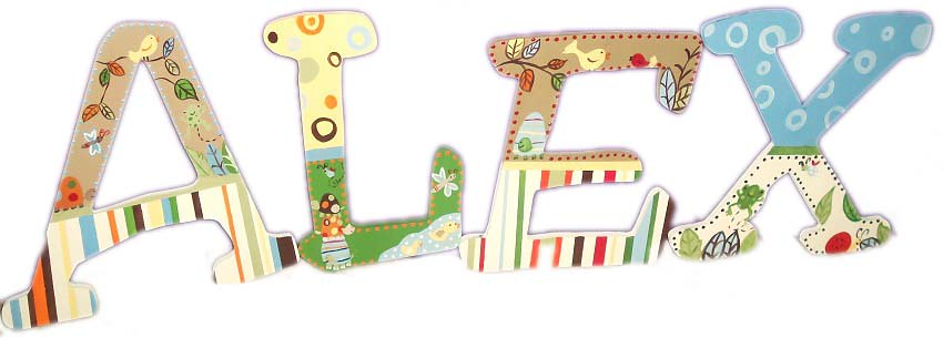 Wall Letters M2M Carters Laguna Bedding