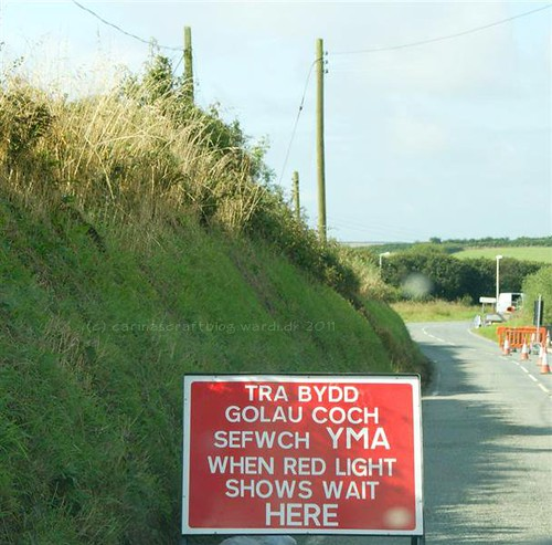 Sign for roadworks