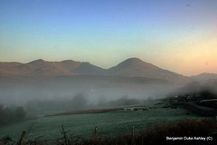 Love The Land (4) (lovetheland) Tags: old uk morning summer england panorama mist lake man love field fog sunrise countryside early view district lakes panoramic cumbria land fields coniston lovetheland