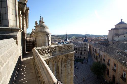 La plaza del Ayuntamiento desde la Torre de la Catedral de Toledo