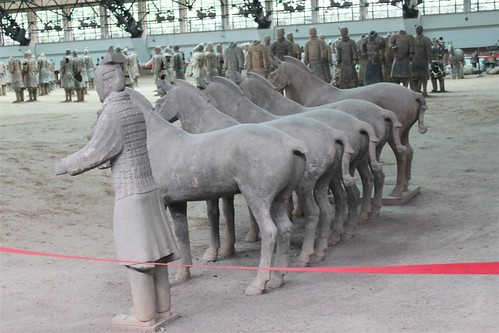 Pottery of Horses at Museum of Qin Terra-cotta Warriors and Horses at Xi'an, China