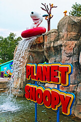 Planet Snoopy (Gary Burke.) Tags: show vacation dog mountain beagle wet water sign rock stone canon eos rebel waterfall pennsylvania character peanuts pa snoopy amusementpark dslr woodstock innertube themepark allentown lehighvalley dorneypark attraction schulz charlesmschulz garyburke planetsnoopy klingon65 t1i canoneosrebelt1i