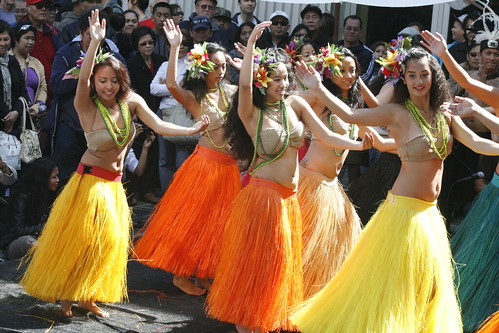 Colorful Hawaiian Dancers