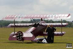 G-FOKK - PFA 238-14253 - Private - Fokker DR.1 Triplane Replica - 110710 - Duxford - Steven Gray - IMG_6758