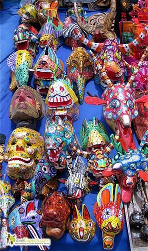 Typical Guatemalan Handmade Masks