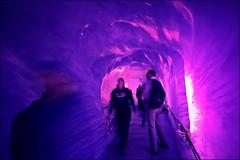 ice grotto (heavenuphere) Tags: pink france mountains alps ice alpes blurry purple glacier grotto cave chamonix 1022mm montblanc merdeglace massif hautesavoie rhônealpes chamonixmontblanc