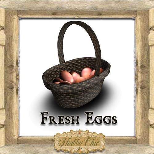 Shabby Chic Farm Fresh Eggs by Shabby Chics