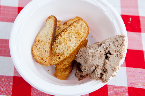 Pork liver pate with grey salt