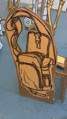 Drawing of a man bag