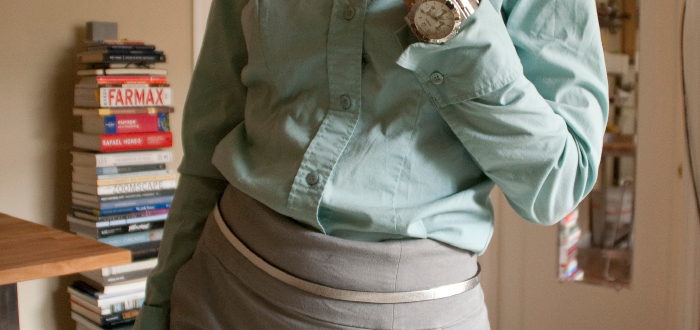 dashdotdotty, dash dot dotty, outfit blog, style blogger, business casual, buttondowns, cuffs and collars, outfit ideas, workfit, what to wear to work, turquoise, gray, green
