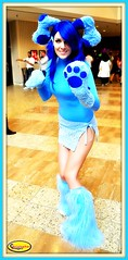 Ci_5279a Blue's Clues (rc3blue) Tags: blue dog cute sexy puppy costume nikon legs cosplay sassy ears skirt fantasy paws dragoncon clues bluesclues d5000 dragoncon2011