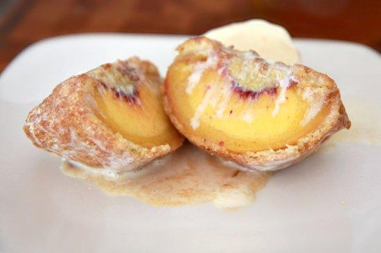 Fried Peach & Ice Cream