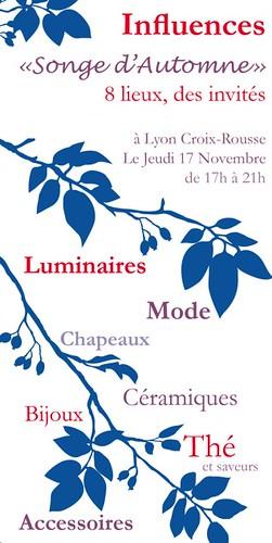 Recto flyer Influences Novembre 2011
