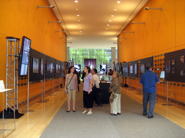 The main entrance to the exhibit