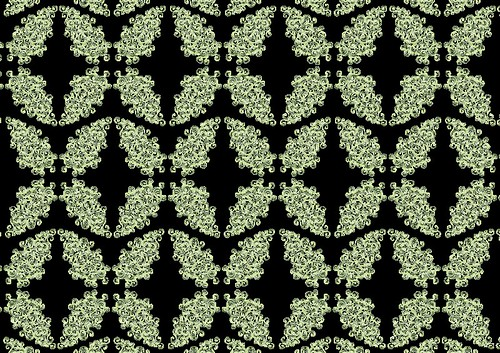Green Curlicues Pattern - Copyright R.Weal 2011